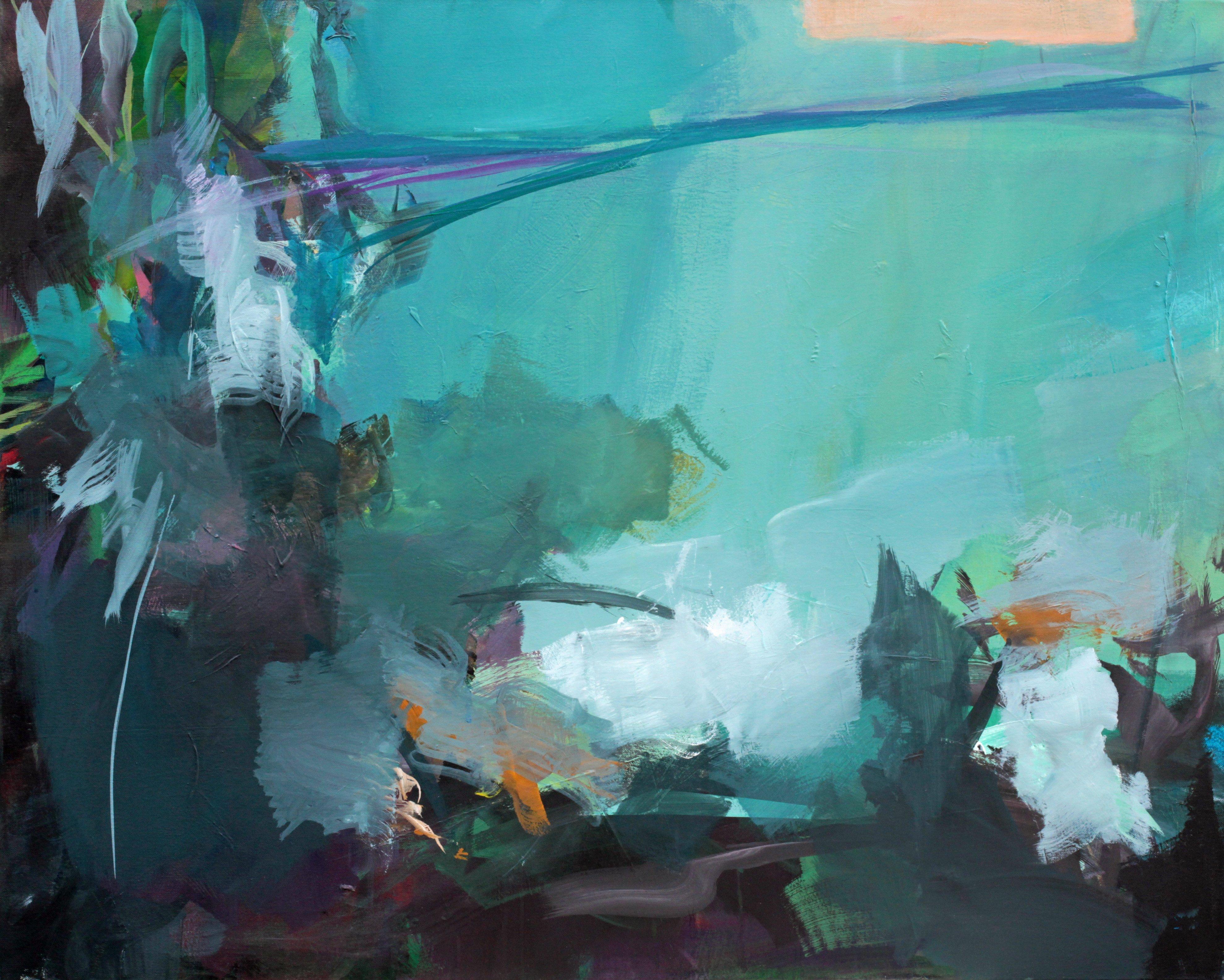Landschaftsmalerei expressionismus nolde  Ute Laum   Blumen und Blueten, Baeume
