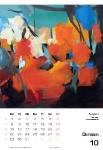 Oktober  Kunstkalender Kalender 2018 Ute Laum
