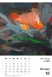 Dezember  Kunstkalender Kalender 2018 Ute Laum