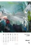 Januar  Kunstkalender Kalender 2018 Ute Laum