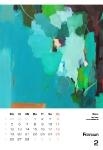 Februar  Kunstkalender Kalender 2018 Ute Laum