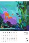 Juli  Kunstkalender Kalender 2018 Ute Laum