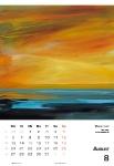 August  Kunstkalender Kalender 2018 Ute Laum